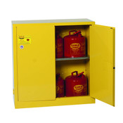 Flammable Safety Cabinet, open